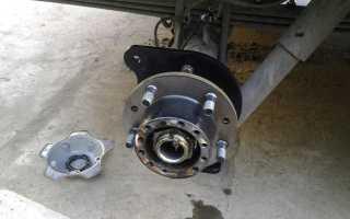 Комплект задних дисковых тормозов на УАЗ Патриот
