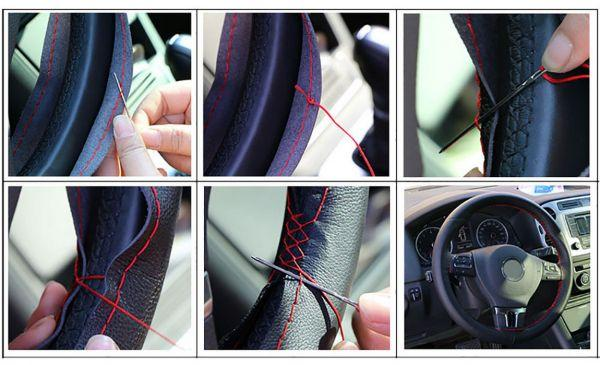 Оплетка на руль со шнуровкой