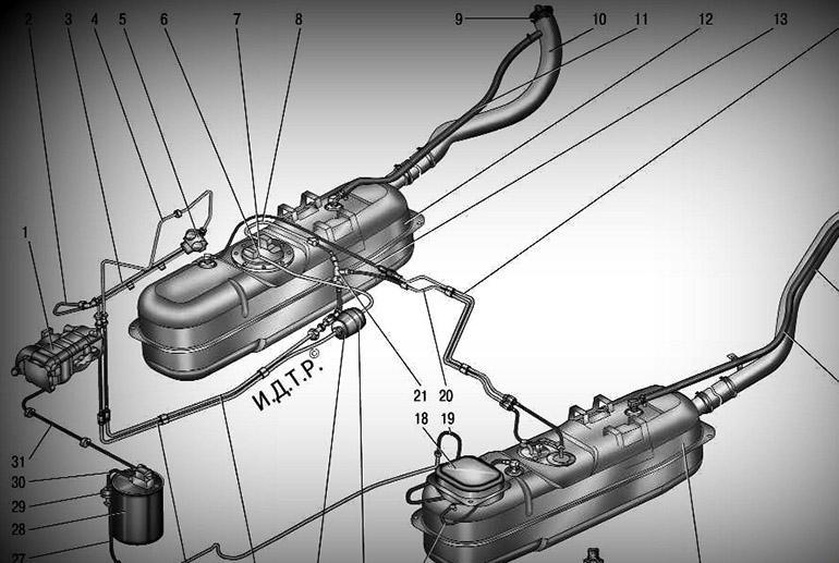 Схема топливоподачи